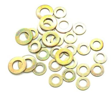 Geel verzinkte platte ring din, sae, uss standaard